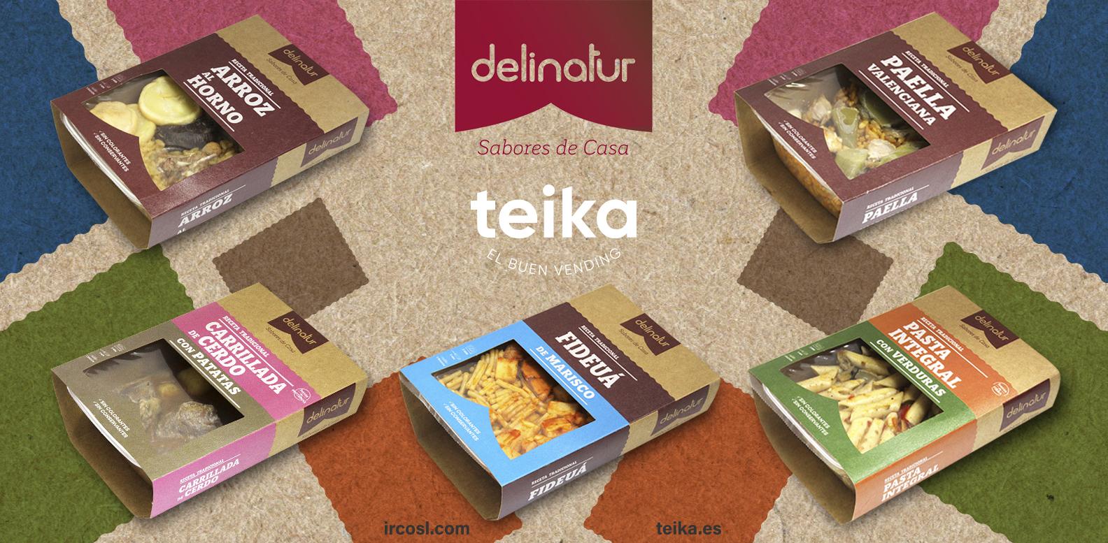 Platos Teika Vending y Delinatur