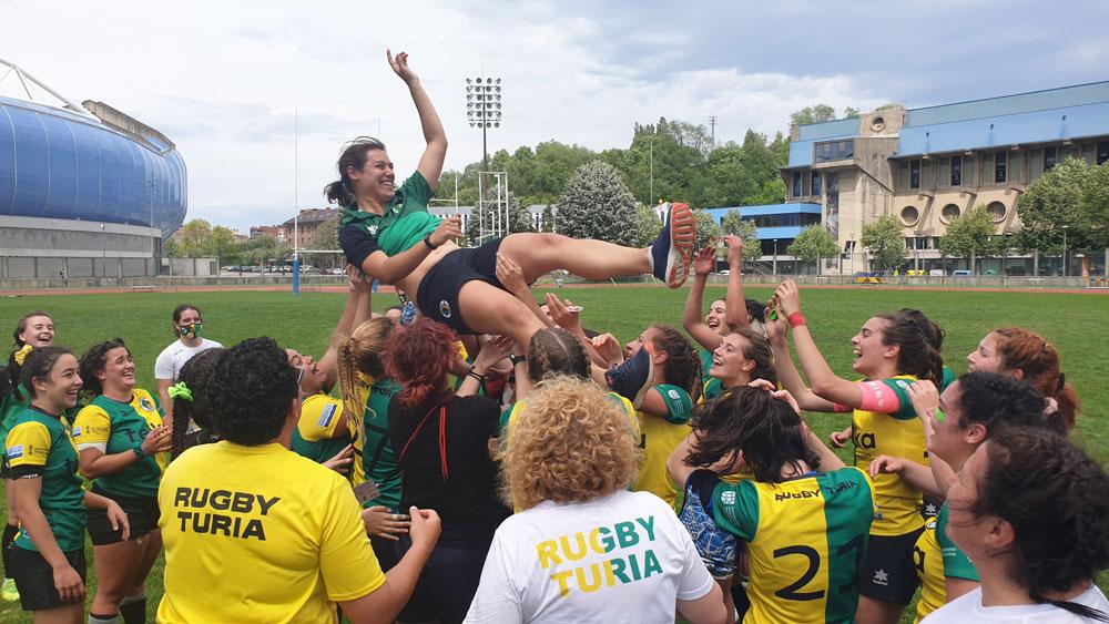 rugby turia asciende de categoria con teika