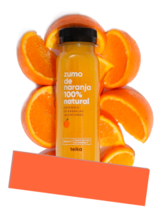 zumo naranja natural teika vending
